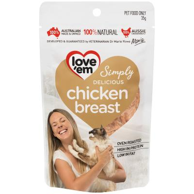 Love em Chicken Breast Treats For Cats 35gm