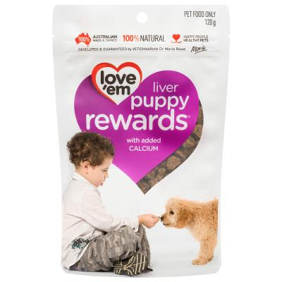 Love em Puppy Liver Rewards Treats For Dogs 120gm