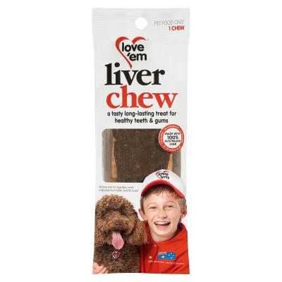 Love em Liver Chew 1 Chew Single Pack Treats For Dogs