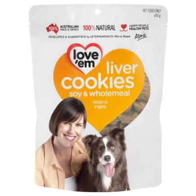 Love em Cookies Soy And Wholemeal Treats For Dogs 450gm