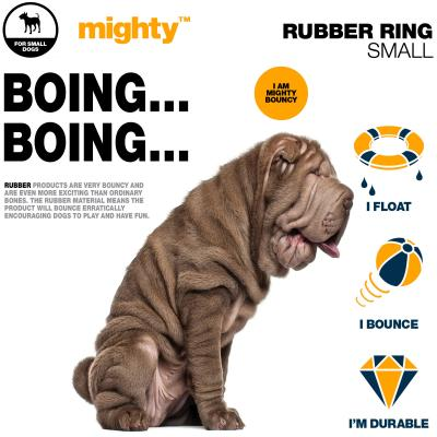 Tasty Bone Mighty Rubber Bounce And Float Ring Small Dog Toy