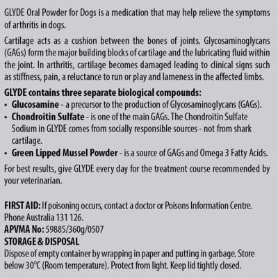 Glyde Oral Powder For Dogs 360gm