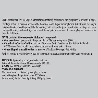 Glyde Mobility Chews For Dogs 60 Chews