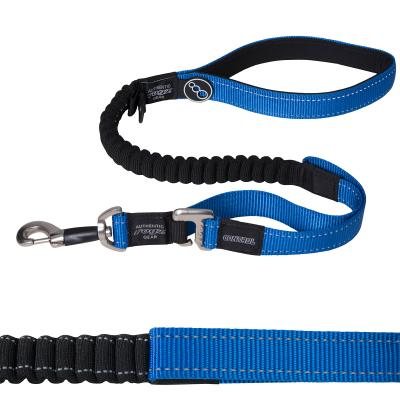 Rogz Lumberjack Shock Absorbing Bungee Control Short Lead Blue XL Short For Dogs