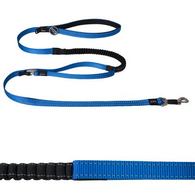 Rogz Snake Shock Absorbing Bungee Control Long Lead Blue Medium For Dogs