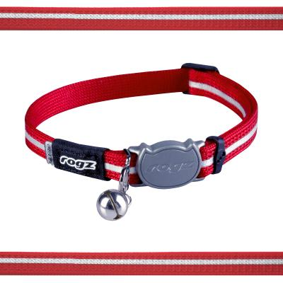 Rogz Alleycat Safeloc Break Away Safety Collar Red 11mm Width For Medium And Large Cats