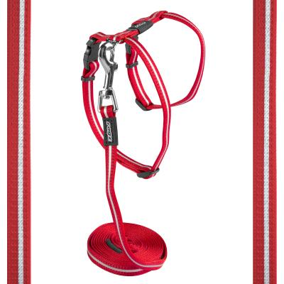 Rogz Alleycat Harness And Lead Set Red 11mm Width For Medium And Large Cats
