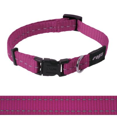 Rogz Utility Nitelife  Reflective Collar Pink Small For Dogs 20-31cm x 11mm