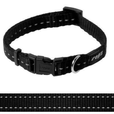 Rogz Utility Nitelife Reflective Collar Black Small For Dogs 20-31cm x 11mm