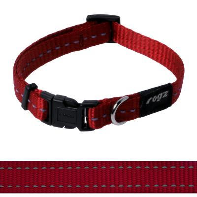 Rogz Utility Nitelife Reflective Collar Red Small For Dogs 20-31cm x 11mm