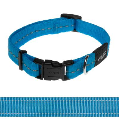 Rogz Utility Nitelife Reflective Collar Turquoise Small For Dogs 20-31cm x 11mm