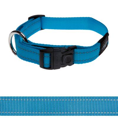 Rogz Utility Fanbelt Reflective Collar Turquoise Large 34-56 cm x 20mm For Dogs