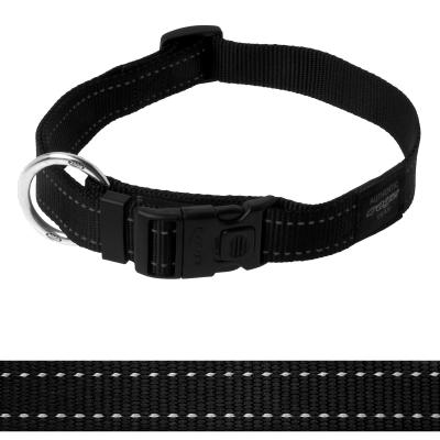 Rogz Utility Lumberjack Reflective Collar Black XLarge For Dogs 43-70cm x 25mm