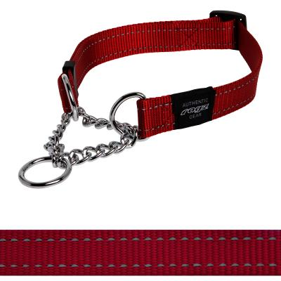 Rogz Utility Lumberjack Reflective Obedience Collar Red For XLarge Dogs 50-70cm x 25mm