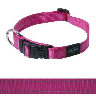 Rogz Utility Lumberjack Reflective Collar Pink  XLarge For Dogs 43-70cm x 25mm