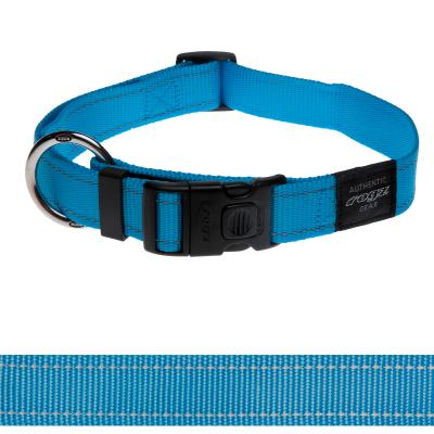 Rogz Utility Lumberjack Reflective Collar Turquoise XLarge For Dogs 43-70cm x 25mm