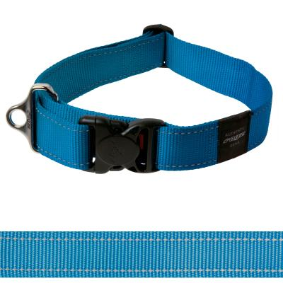 Rogz Utility Landing Strip Reflective Collar Turquoise XXLarge For Dogs 50-80cm x 40mm