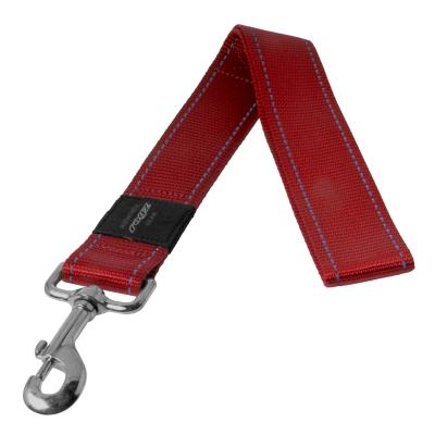Rogz Utility Landing Strip Reflective Lead Red XXLarge For Dogs