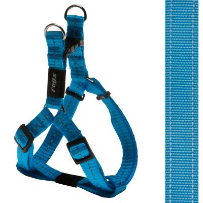Rogz Utility Nitelife Reflective Step-In Harness Turquoise Small For Dogs 27-38cm x 11mm
