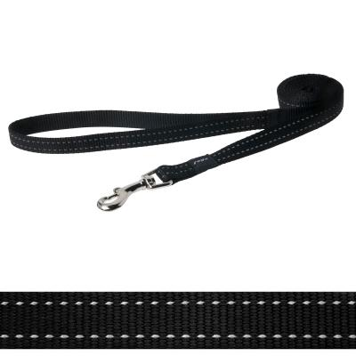 Rogz Utility Snake Reflective Lead Black Medium For Dogs