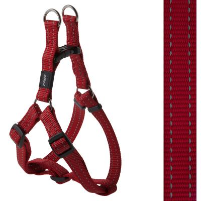 Rogz Utility Snake Reflective Step-In Harness Red Medium For Dogs 42-61cm x 16mm