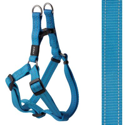 Rogz Utility Snake Reflective Step-In Harness Turquoise Medium For Dogs 42-61cm x 16mm