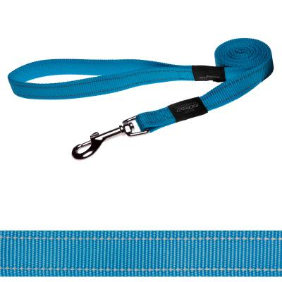 Rogz Utility Fanbelt Reflective Lead Turquoise Large For Dogs
