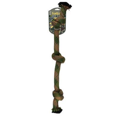 Ruff n Tuff 3 Knot Weave Rope Bone Medium Toy For Dogs 60cm