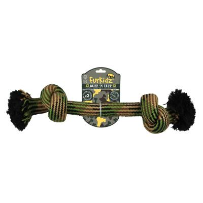 Ruff n Tuff 2 Knot Weave Rope Bone Large Toy For Dogs 45cm