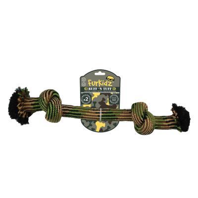 Ruff n Tuff 2 Knot Weave Rope Bone Medium Toy For Dogs 40cm