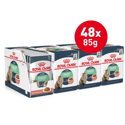Royal Canin Digest Sensitive In Gravy Adult Pouches Wet Cat Food 85g x 48