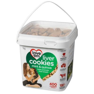Love Em Beef Mint Quinoa Cookies Treats For Dogs 1kg