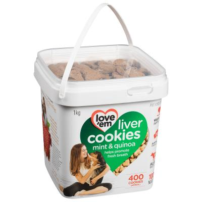 Love Em Beef Mint Quinoa Cookies Treats For Dogs 1kg