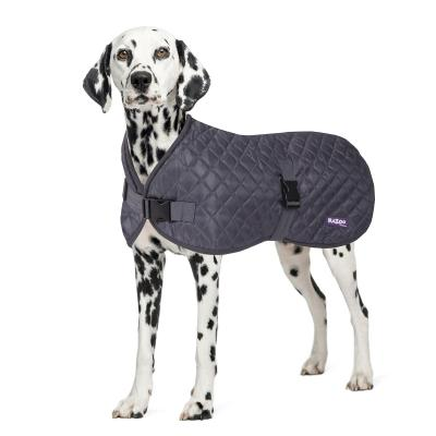 Kazoo Quilted Dog Coat Grey XXSmall 27cm