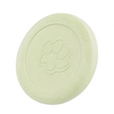 West Paw ZogoFlex Zisc Glow In The Dark Large Frisbee Toy For Dogs 22cm