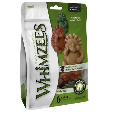 Whimzees Dental Hedgehog Large Treats For Dogs 18-27kg 6 Pack 360gm