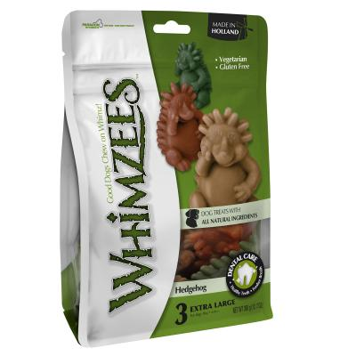 Whimzees Dental Hedgehog XLarge Treat For Dogs +18kg 3Pack 360gm