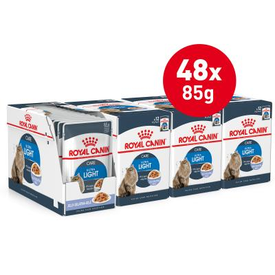 Royal Canin Ultra Light in Jelly Adult Pouches Wet Cat Food 85g x 48