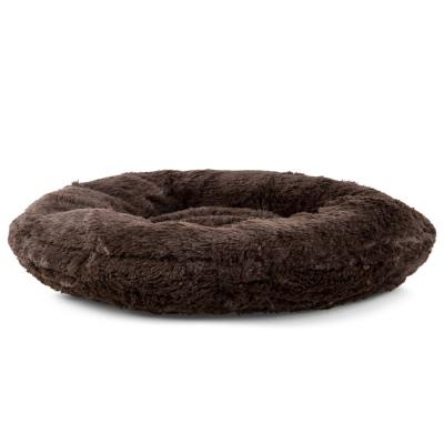 Vitapet Donut Brown Pet Bed With Non Slip Base For Dogs And Cats