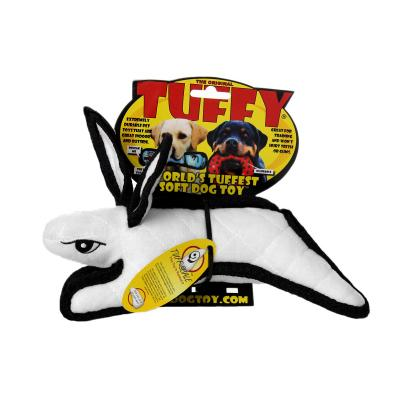 Tuffy Jr Barnyard Rabbit White Tough Soft Toy For Dogs