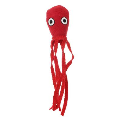 Tuffy Jr Ocean Creature Squid Red Tough Soft Toy For Dogs
