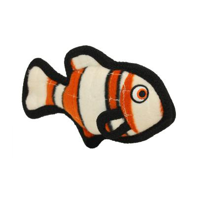 Tuffy Jr Ocean Creature Fish Orange Tough Soft Toy For Dogs