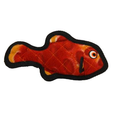 Tuffy Jr Ocean Creature Fish Red Tough Soft Toy For Dogs