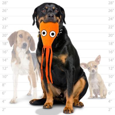 Tuffy Ocean Creature Mega Squid Orange Tough Soft Toy For Dogs