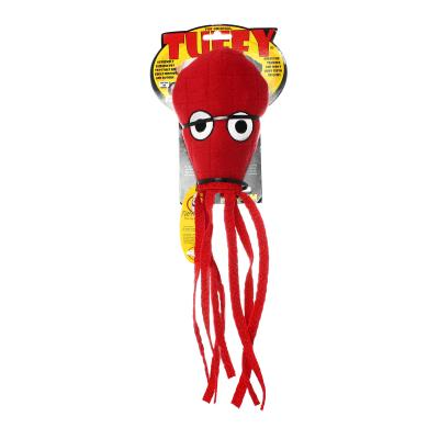 Tuffy Ocean Creature Ultimate Squid Red Tough Soft Toy For Dogs