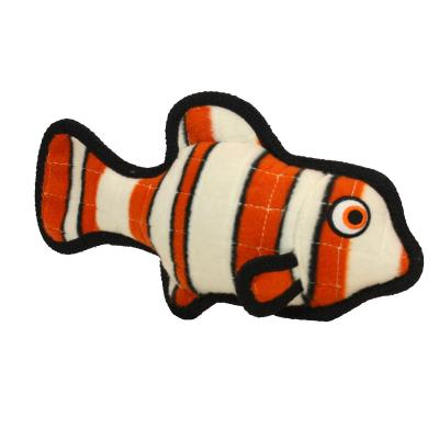 Tuffy Ocean Creature Fish Orange Tough Soft Toy For Dogs