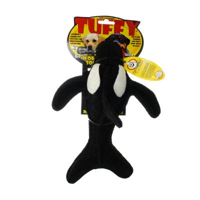 Tuffy Ocean Creature Killer Whale Tough Soft Toy For Dogs