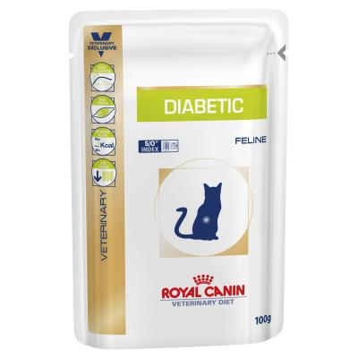 Royal Canin Veterinary Diet Feline Diabetic For Cat 100gm x 12 Pouch (ABB85)
