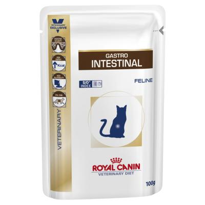 Royal Canin Veterinary Diet Feline GastroIntestinal Pouch For Cat 100gm x 12 (XF053)
