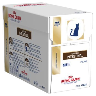 Royal Canin Veterinary Diet Feline GastroIntestinal Pouch Wet Cat Food 100gm x 12 (XF053)